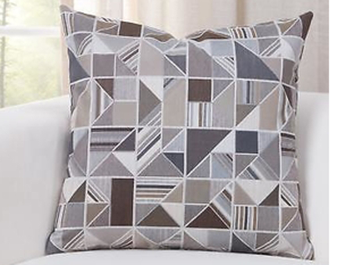 "Deco Granite Geometric Pillow 16""W x 16""H"