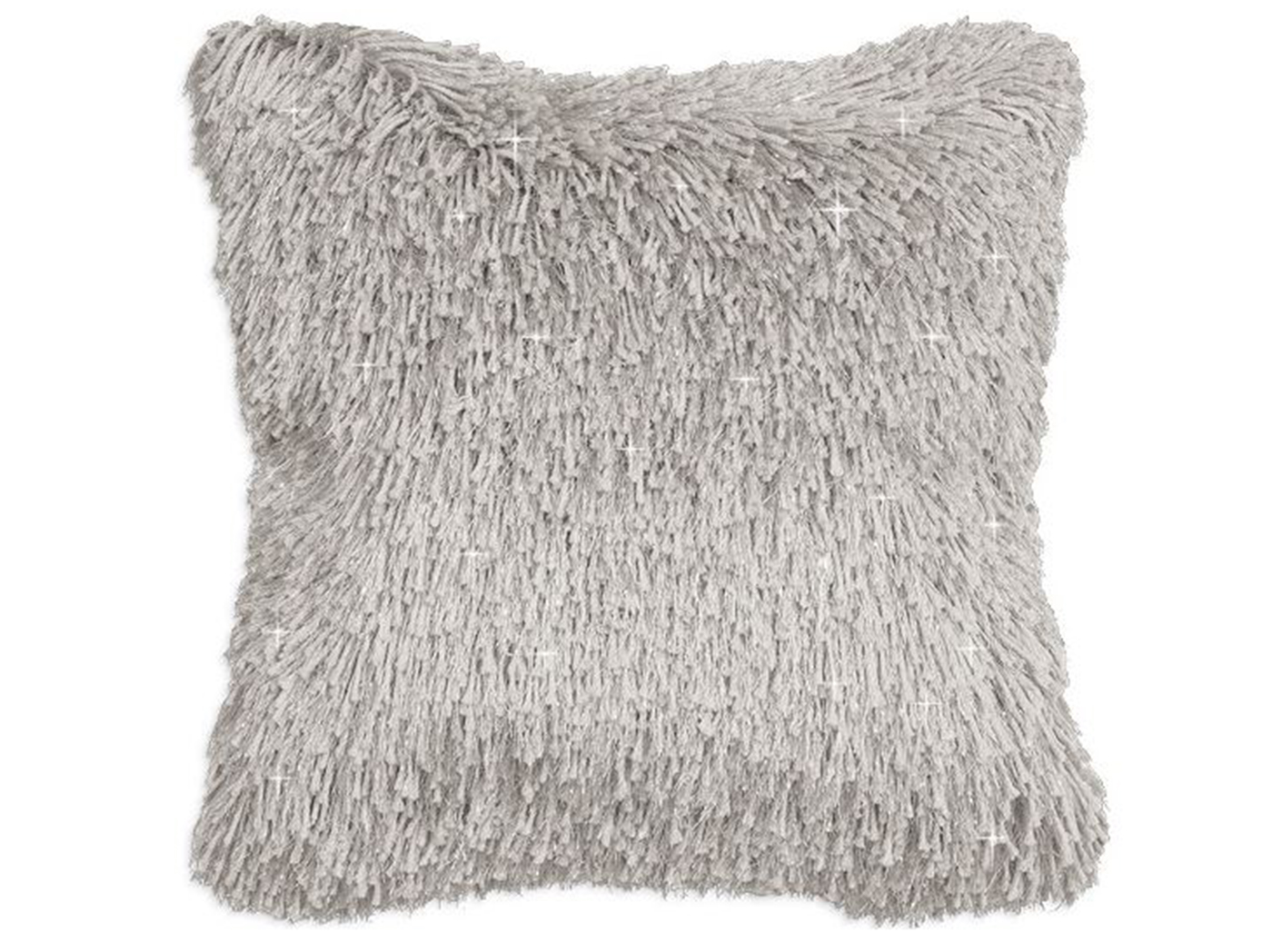 "Grey Shag Sparkle Pillow 20"" x 20"""