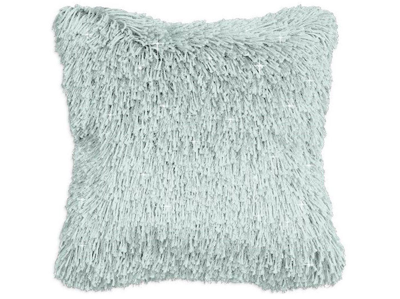 "Aqua Shag Sparkle Pillow 20"" x 20"""