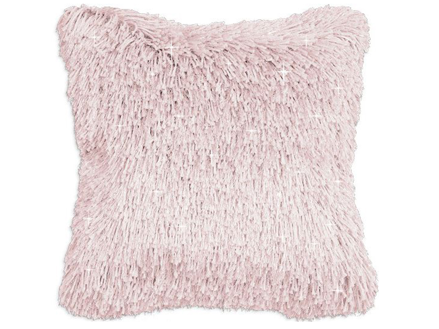 "Rose Shag Sparkle Pillow 20"" x 20"""