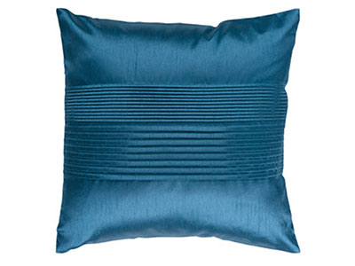 Teal Pleated Pillow 18""