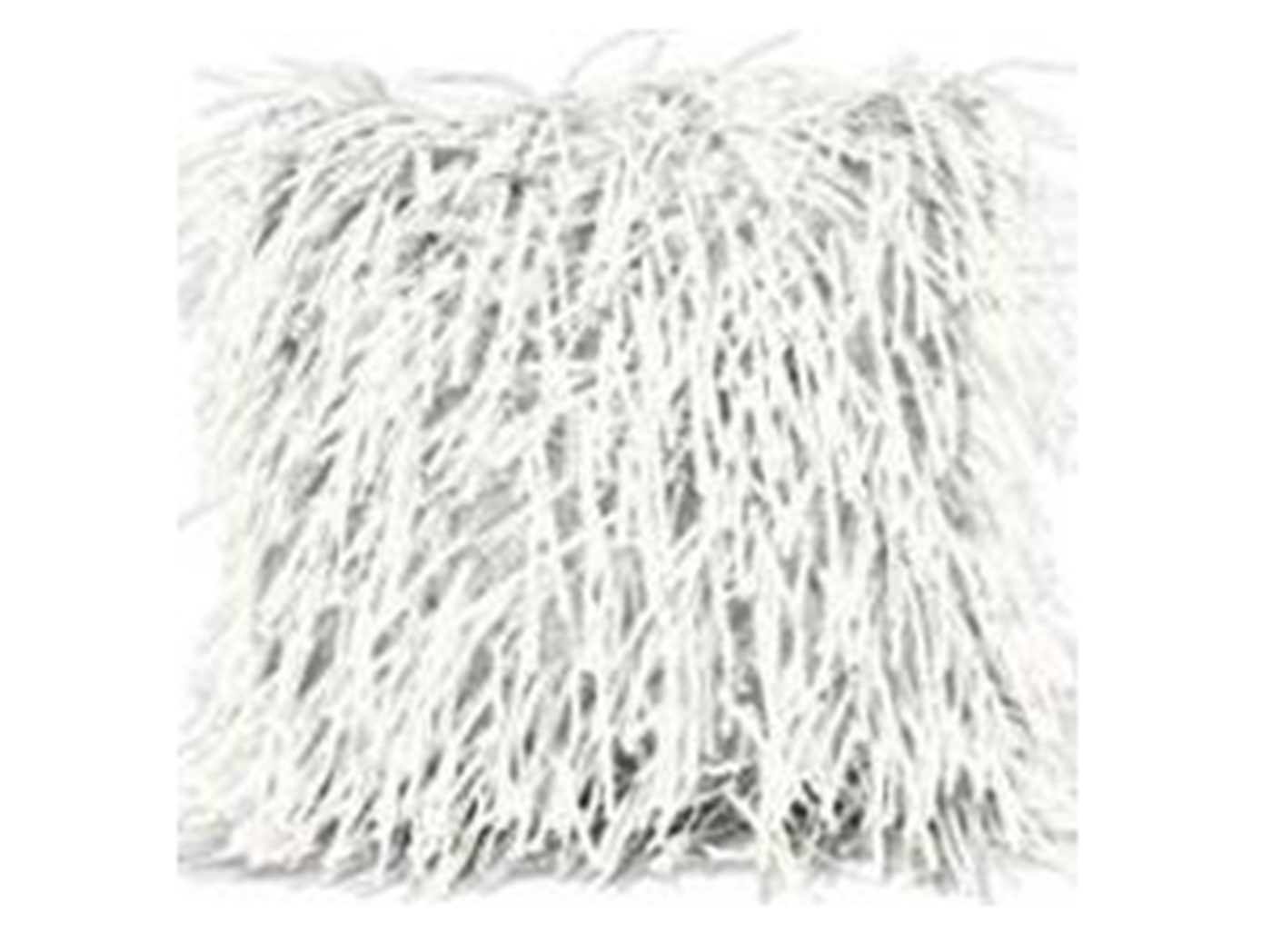 "Ivory Fringy Pillow 16""W x 16""H"