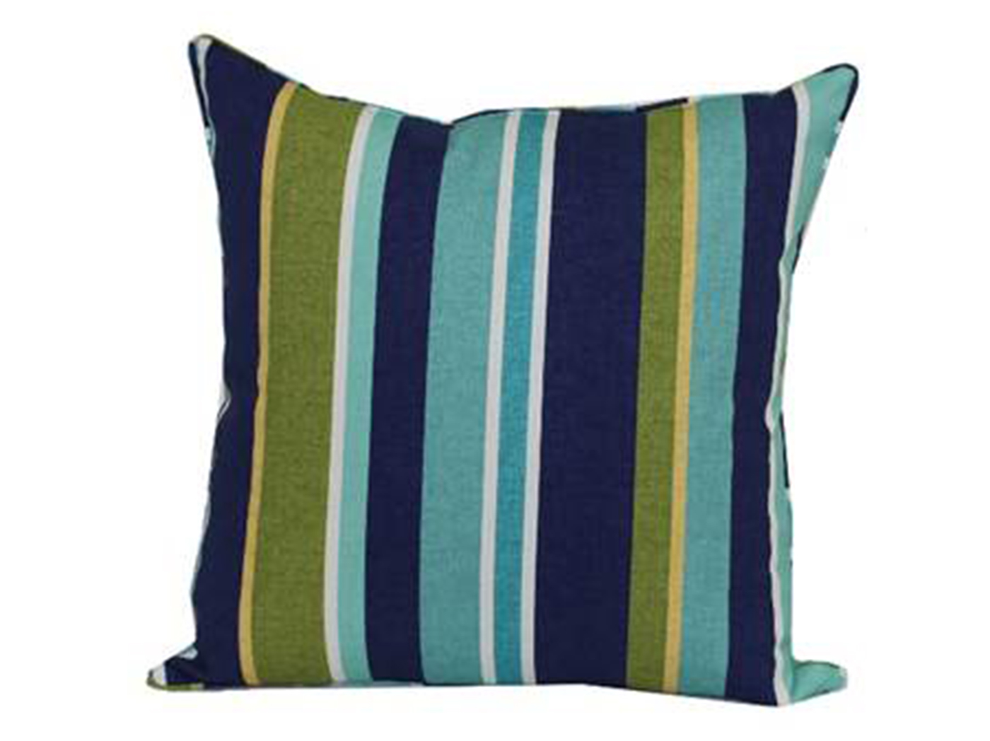 Florida Stripe Aqua Outdoor Pillow 17""