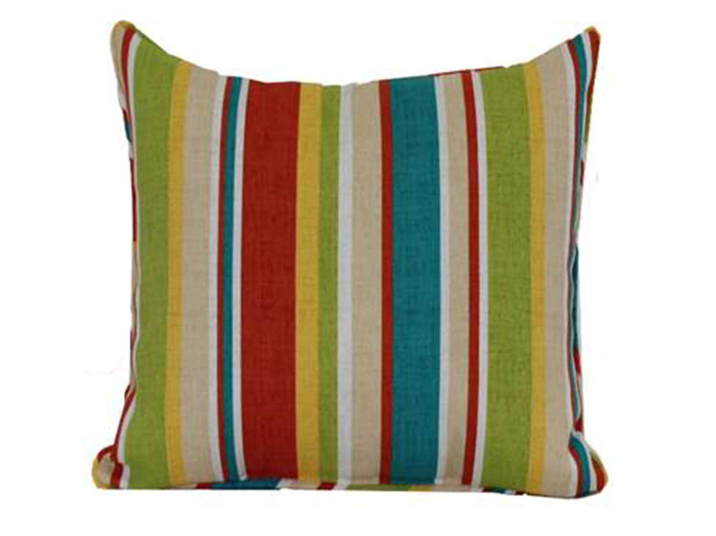 Piper Stripe Biscotti Outdoor Pillow 17""