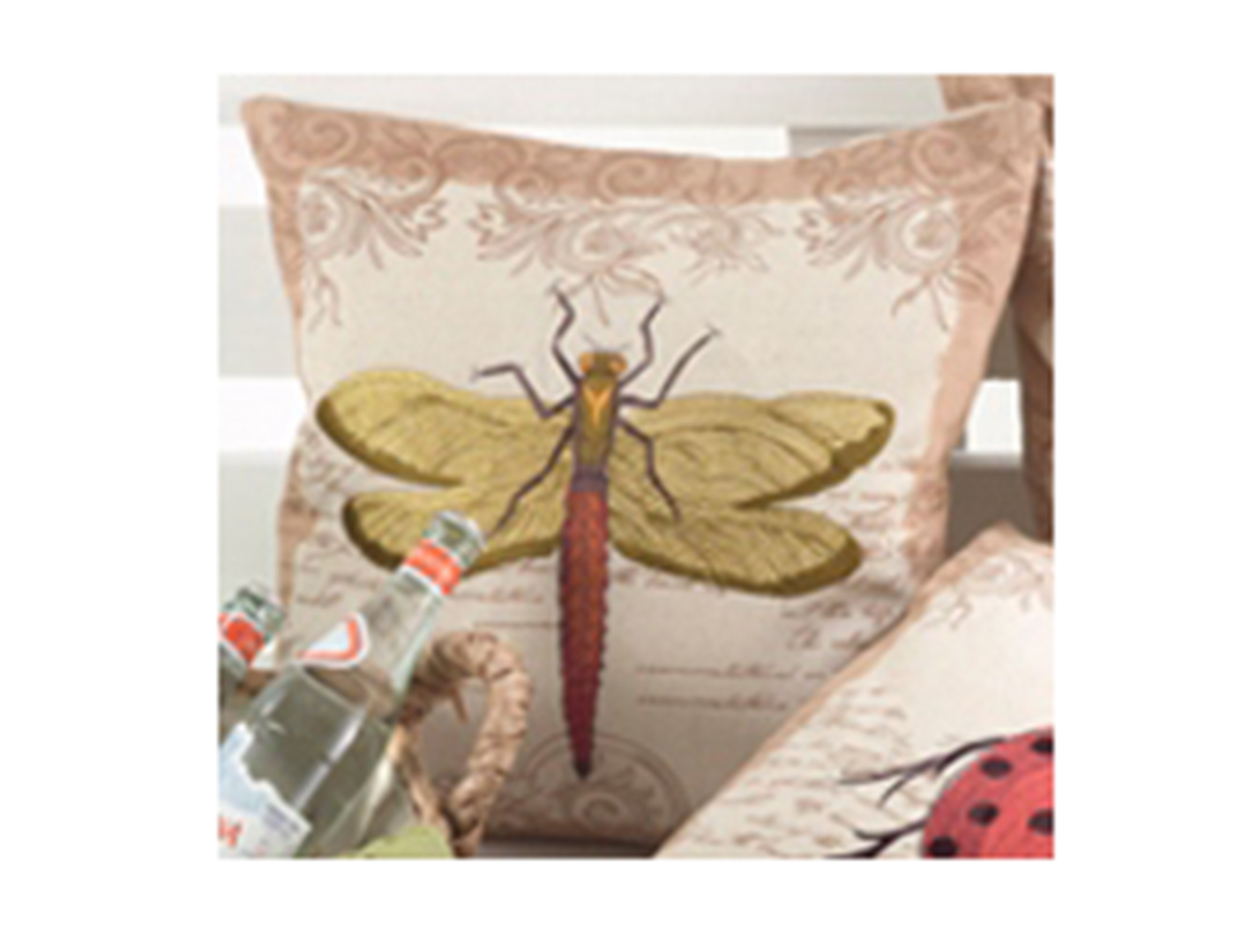 Dragonfly Pillow 17""