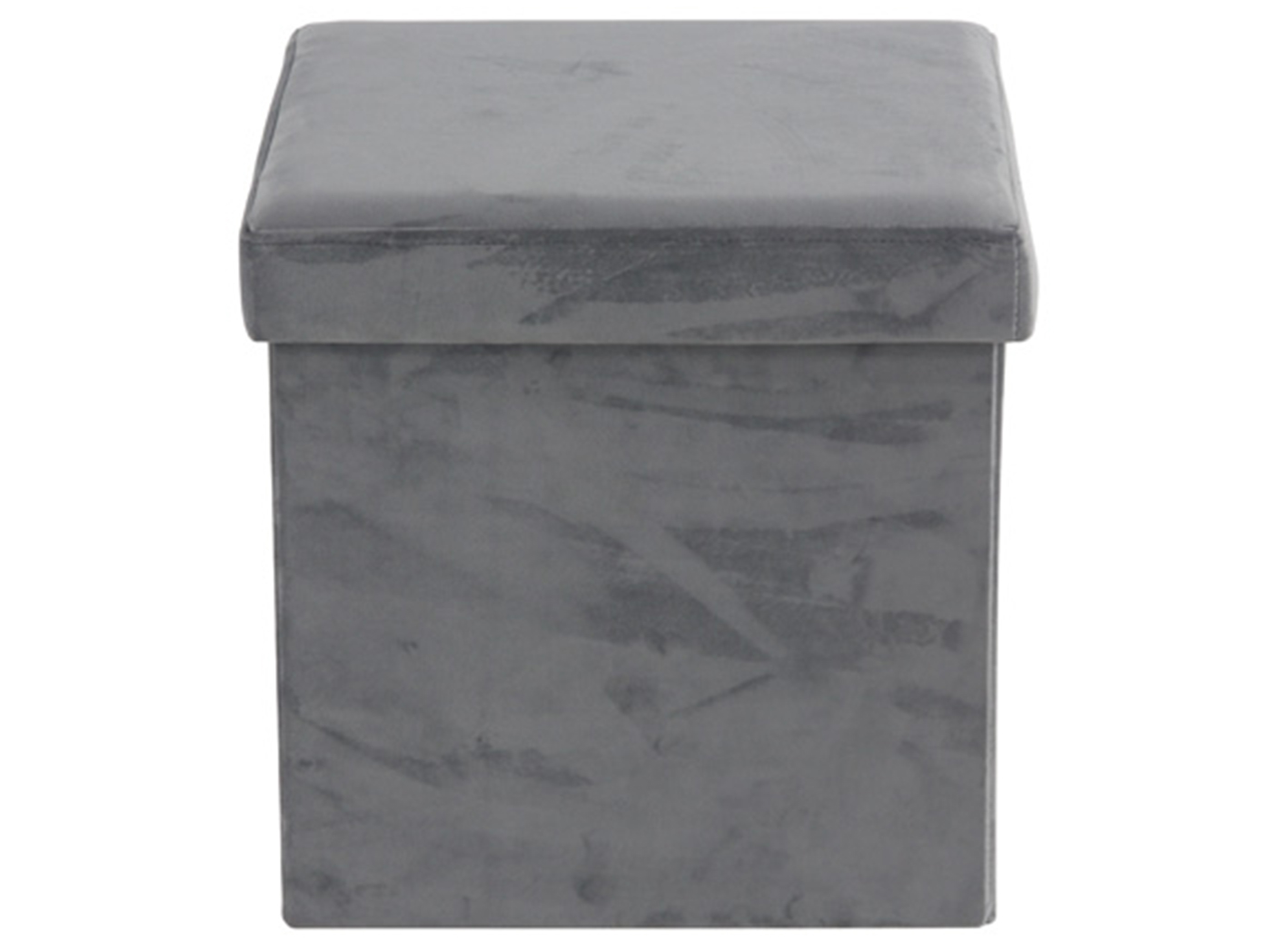 "Grey Fabric Storage Stool 17""W x 15""H"