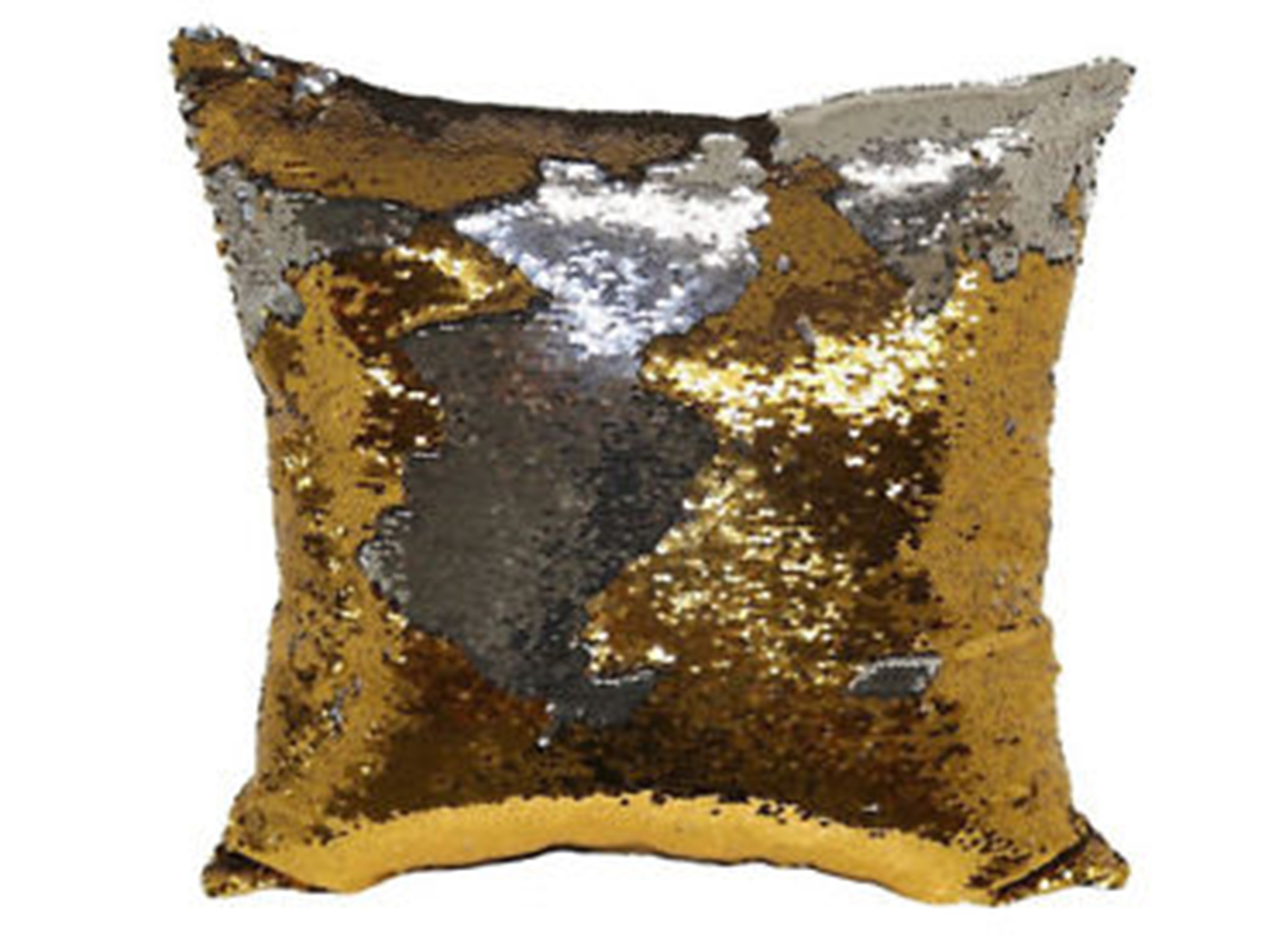 Gold And Silver Mermaid Pillow 18""