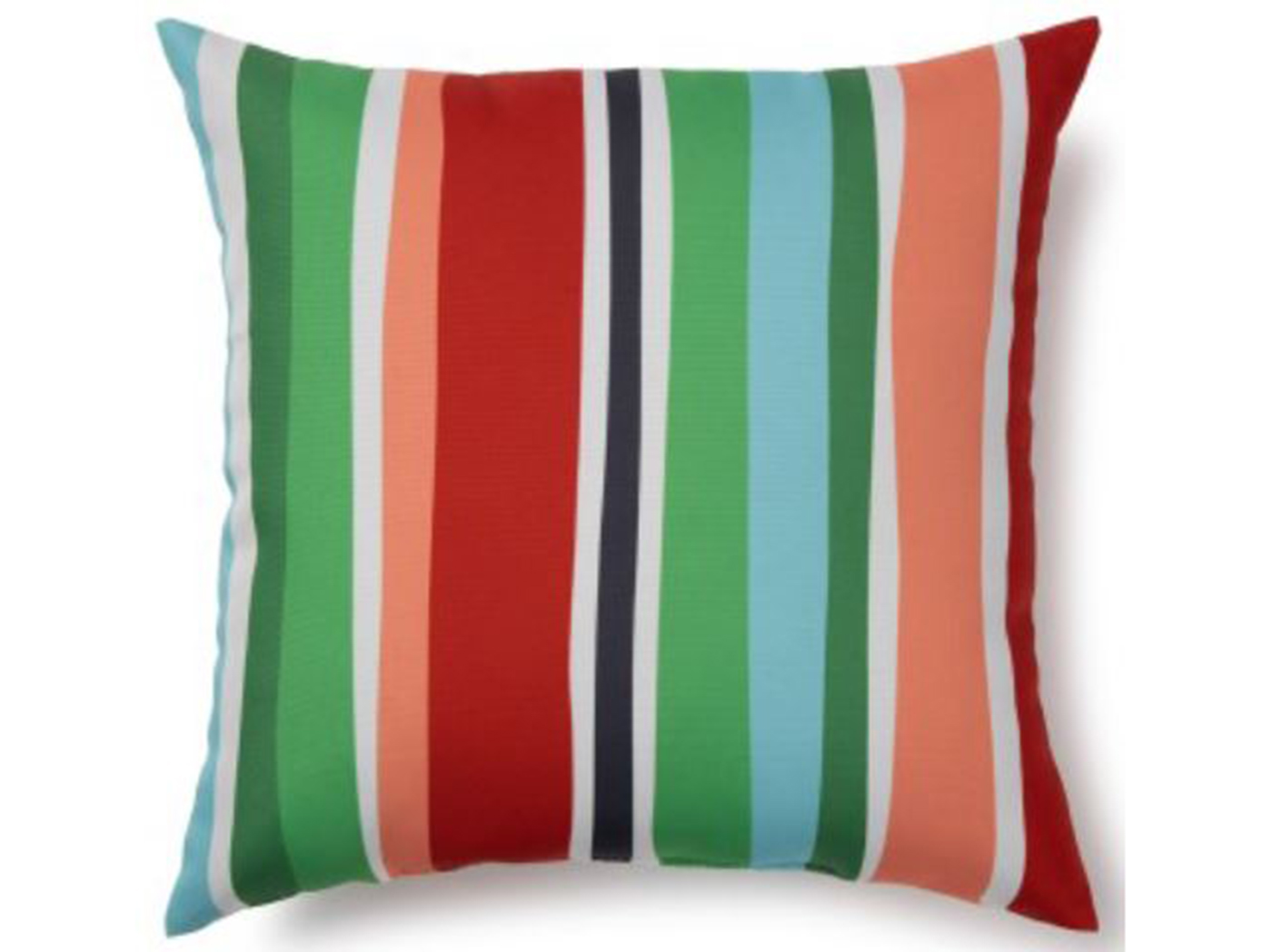 "Stripes Outdoor Pillow 17""W x 17""H"