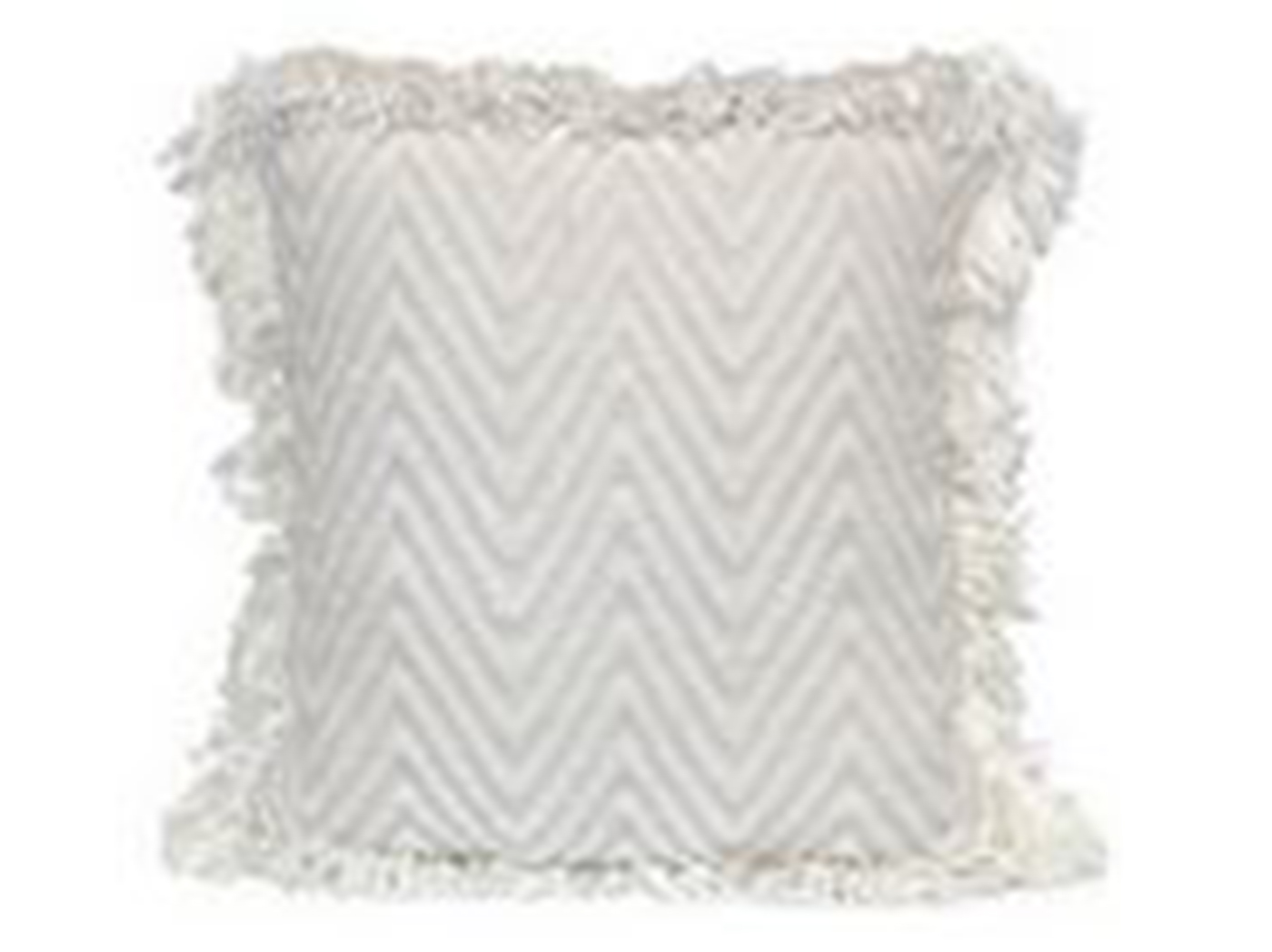 "Cream Chevron Pillow 18""W x 18""H"