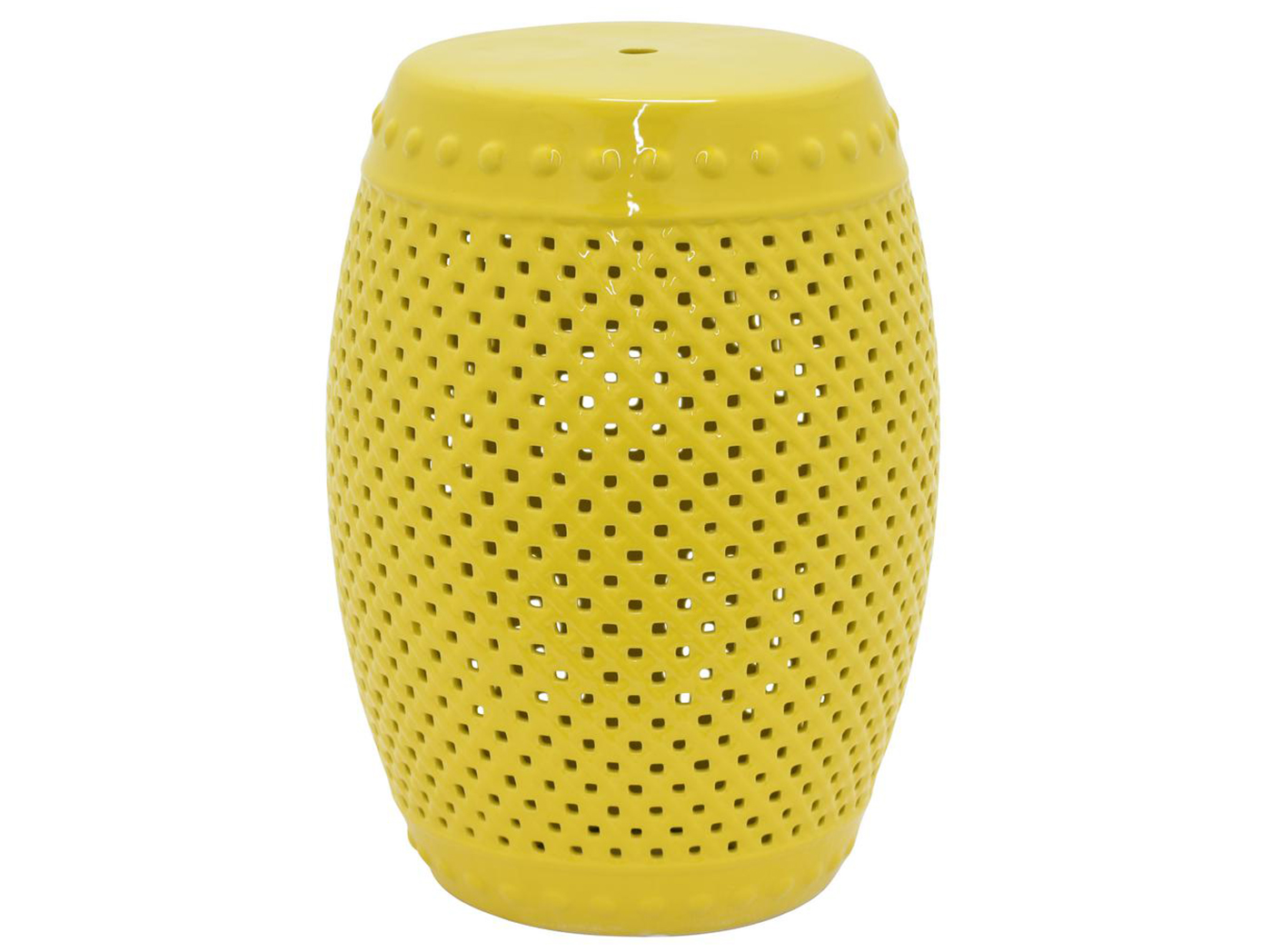 "Yellow Garden Stool 13""W x 19""H"