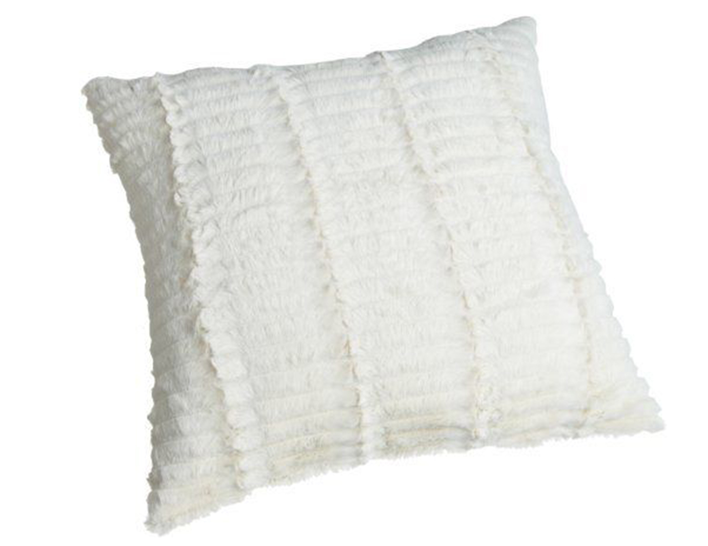Ivory Cut Fur Pillow 18""