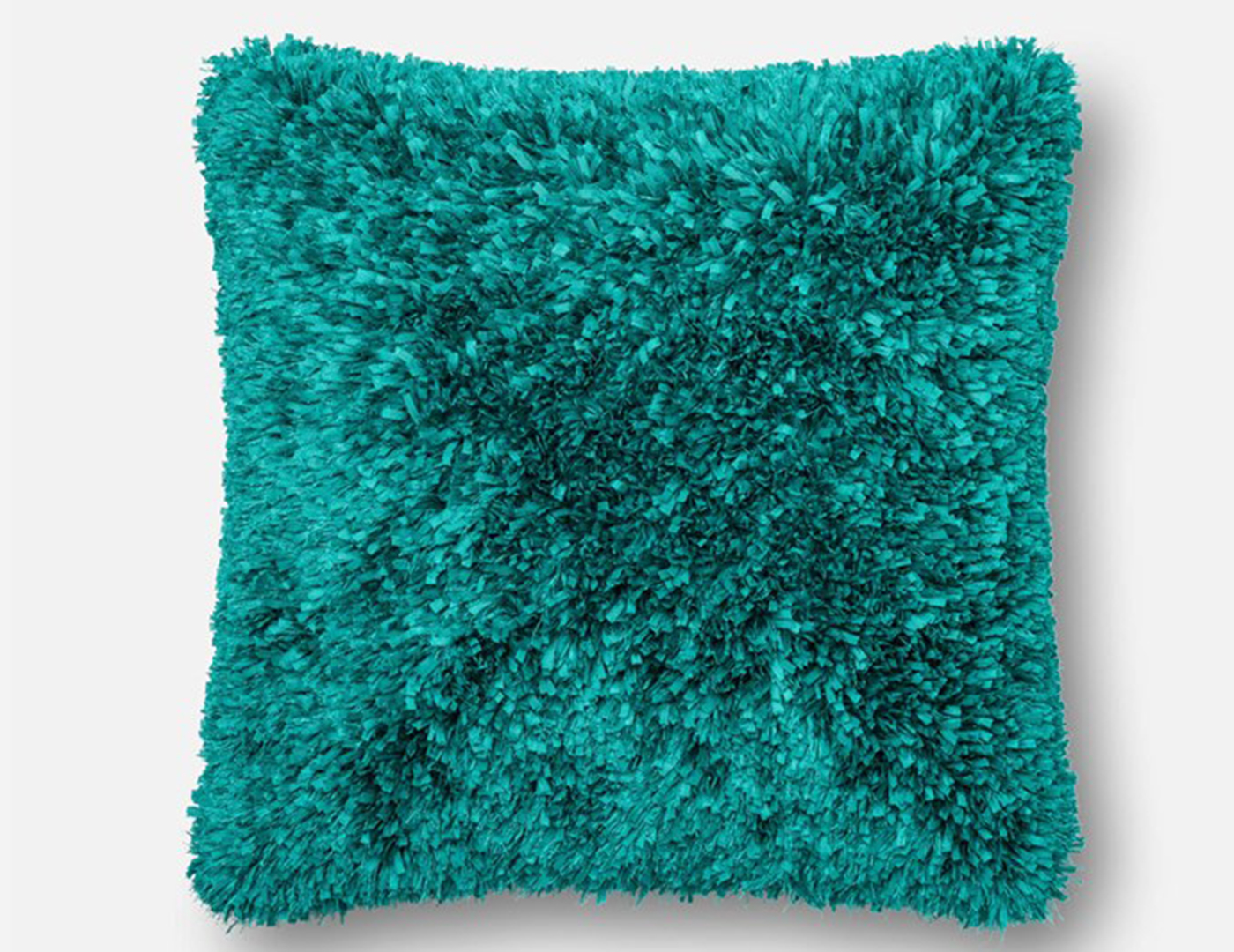 Peacock Fluffy Faux Fur Pillow