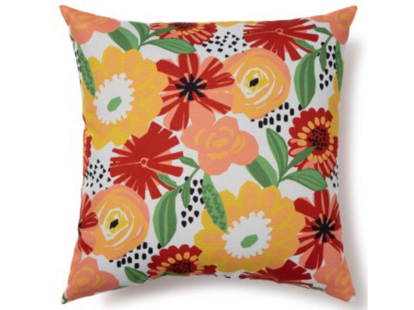 "Floral Outdoor Pillow 17""W x 17""H"