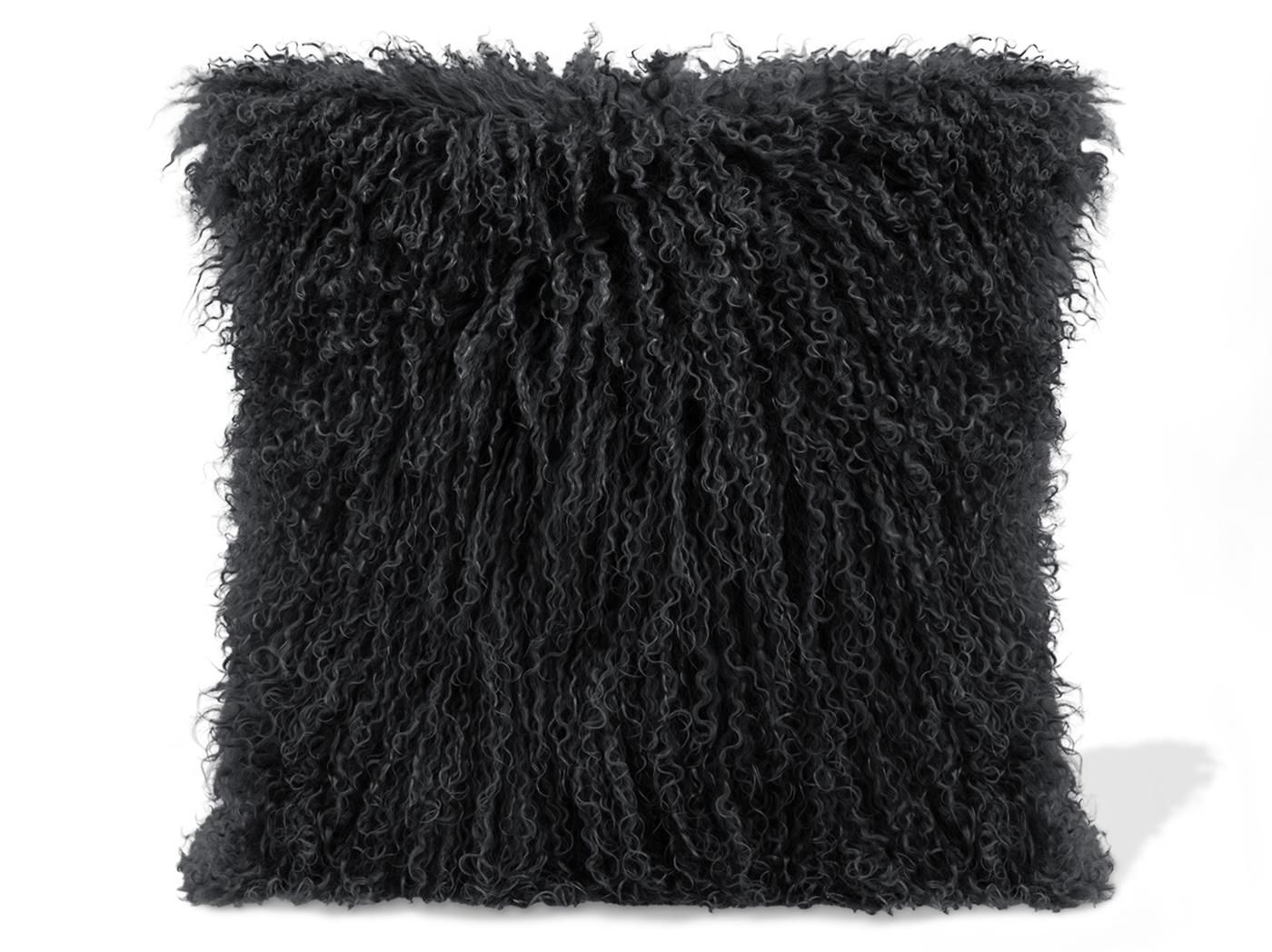 Steinhafels - Black Lamb Fur Pillow