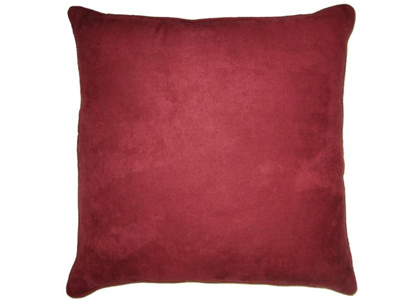 "Mulberry Faux Suede Pillow 18""W x 18""H"