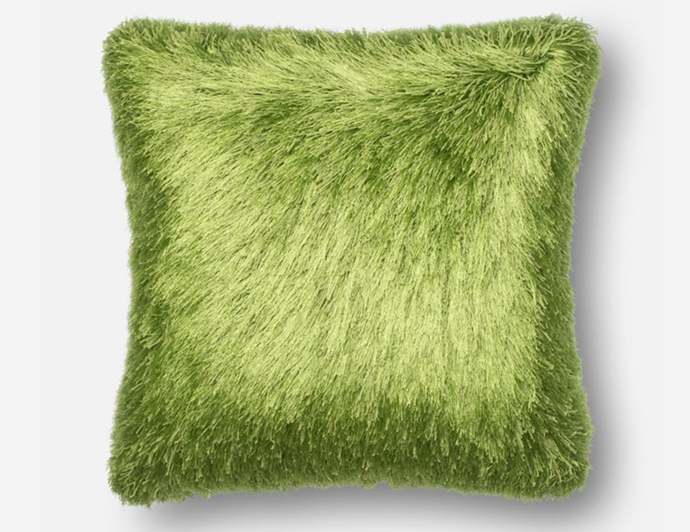 Green Fluffy Faux Fur Pillow 22""