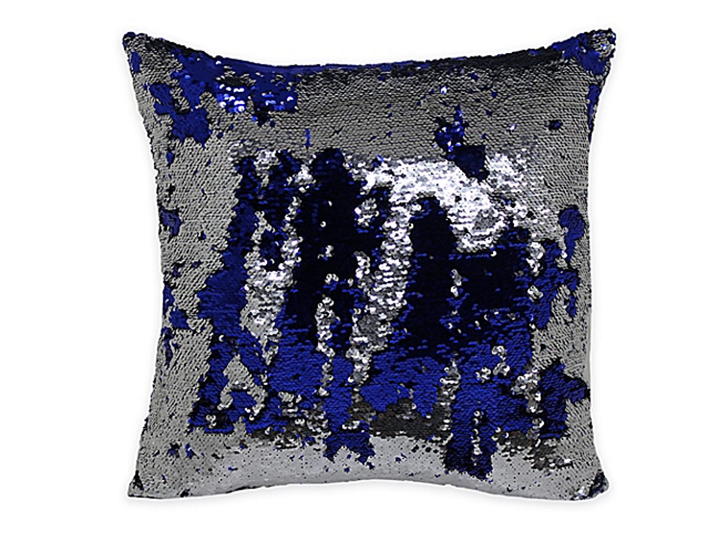 Blue and Silver Mermaid Pillow 18""