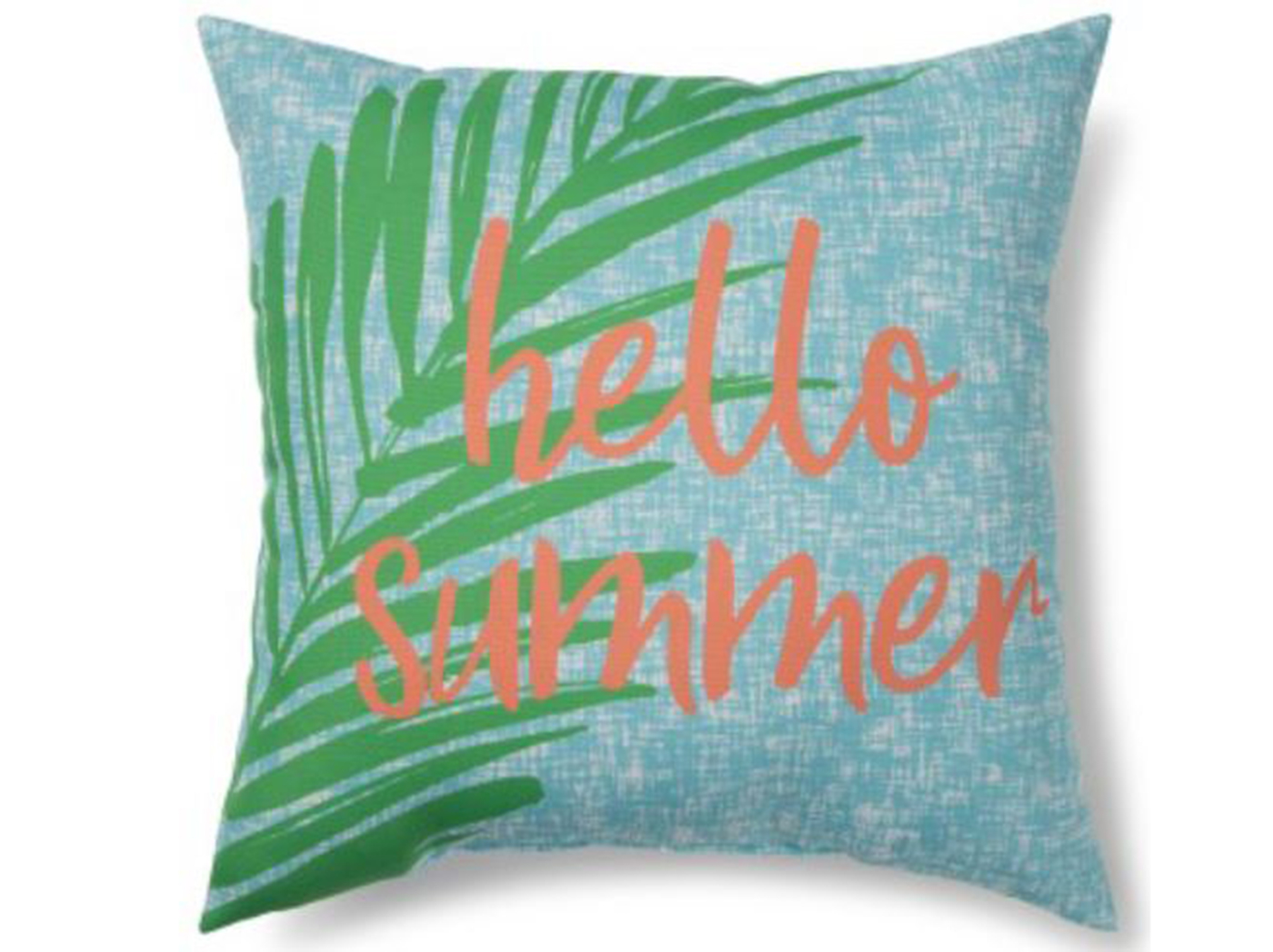 "Summer Palm Outdoor Pillow 17""W x 17""H"