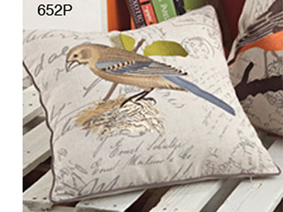 Blue Bird Down Filled Pillow