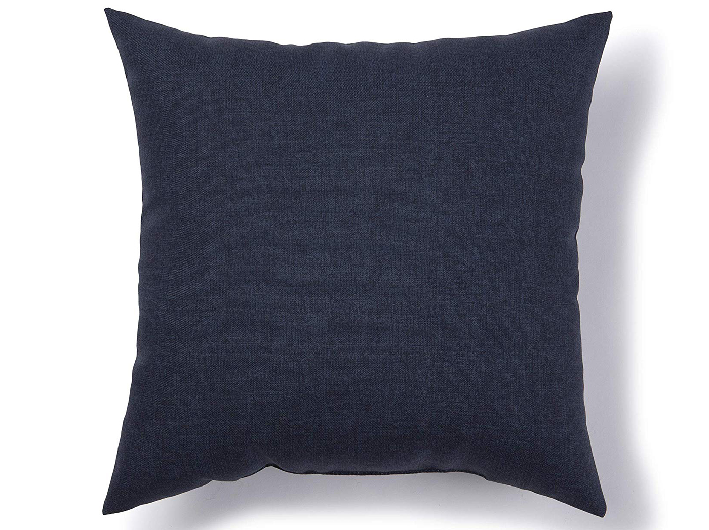 "Navy Peacoat Outdoor Pillow 17""W x 17""H"
