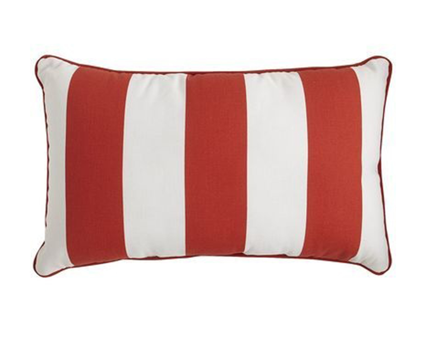 Cabana Red Outdoor Lumbar Pillow