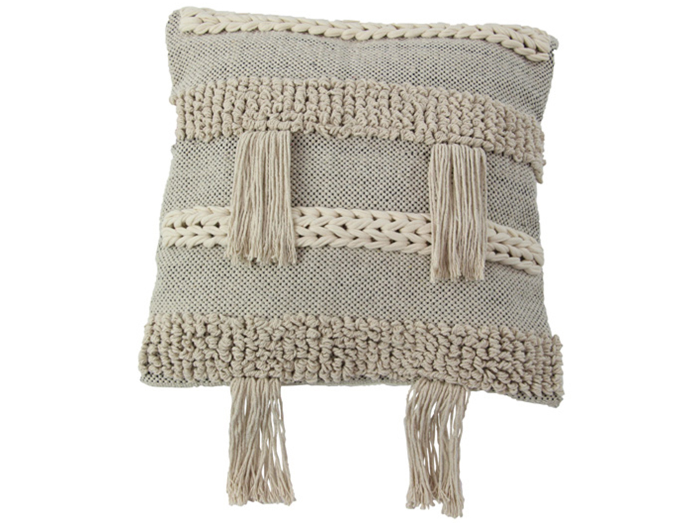 Natural Stripe Pillow 19""