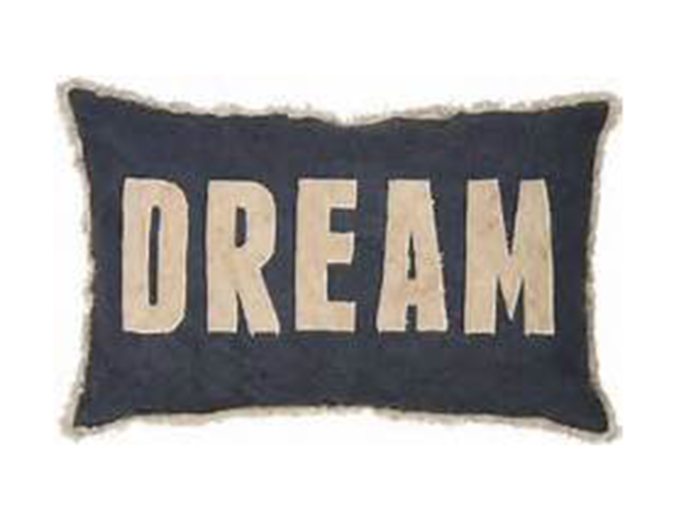 "Navy and Tan ""Dream"" Pillow 22X14"""