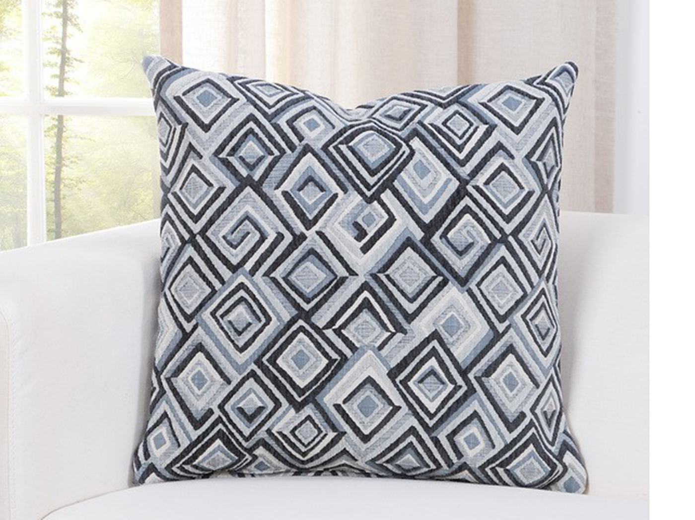 "Diamondhead Denim Pillow 16""W x 16""H"