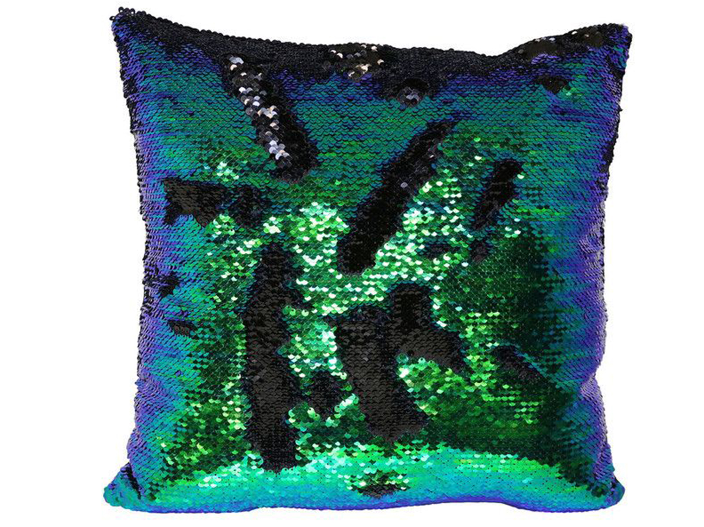 Green And Blue Mermaid Pillow 18""