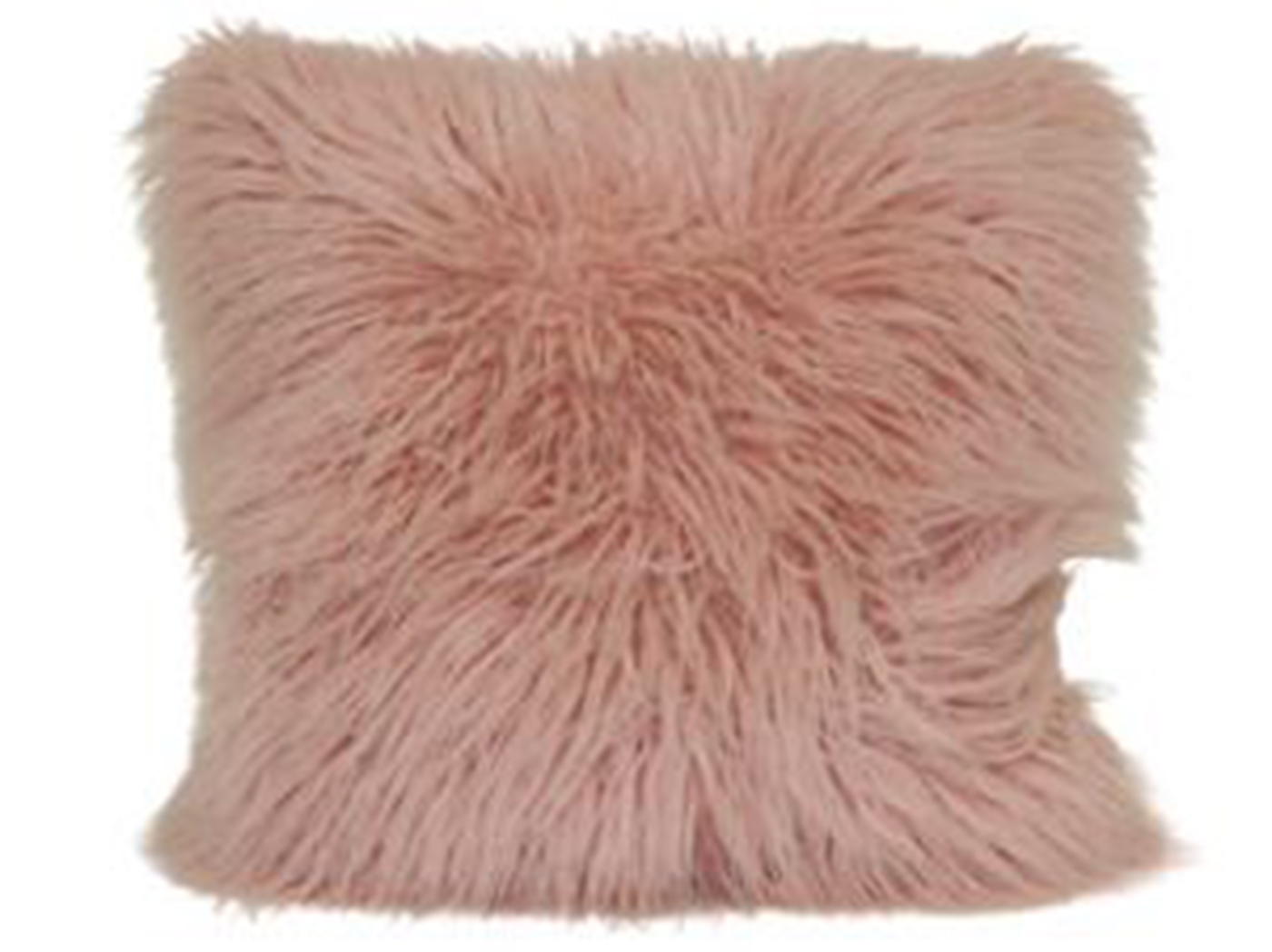 "Blush Mongolian Fur Pillow 18""W x 18""H"