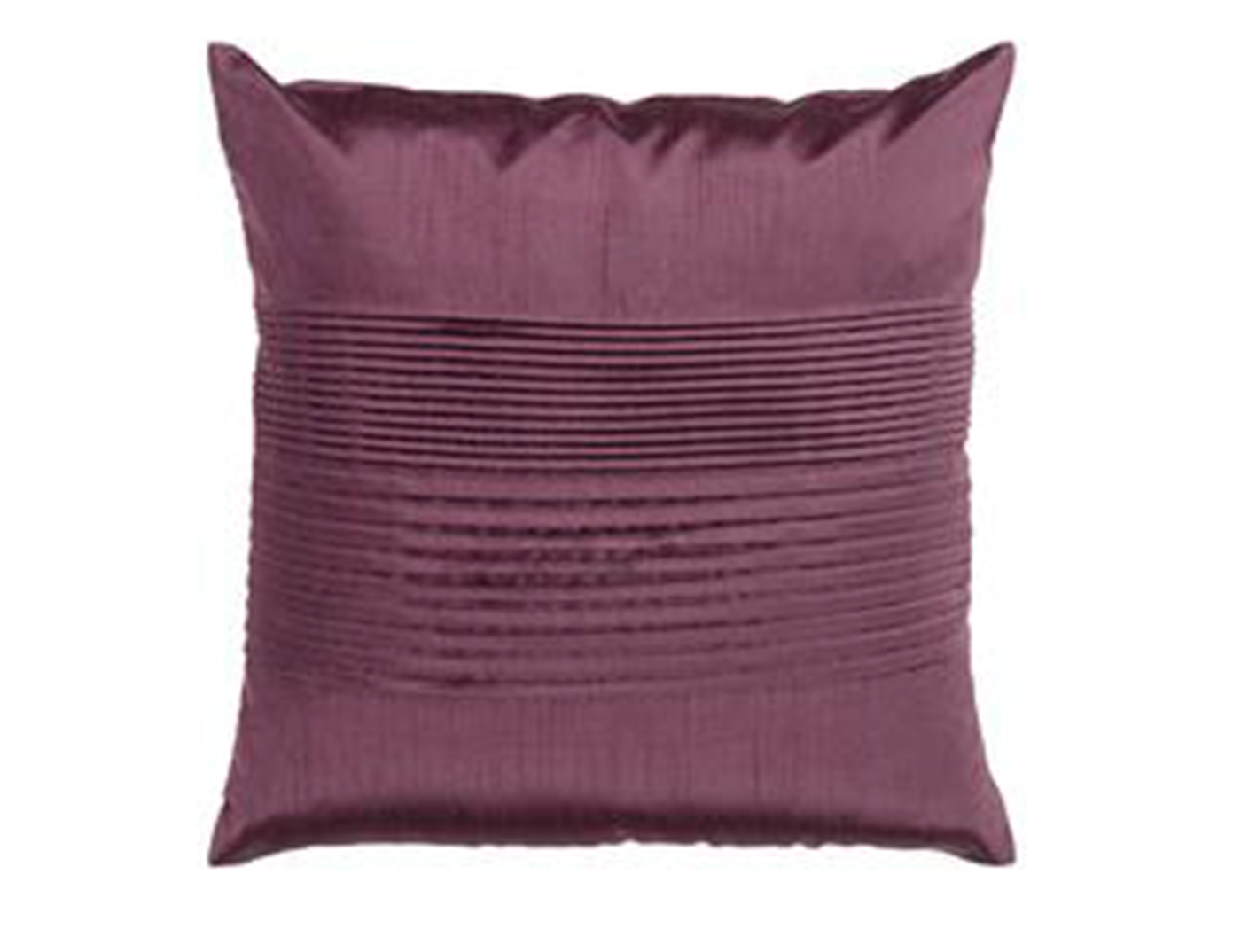 Dark Purple Pleated Pillow 18""