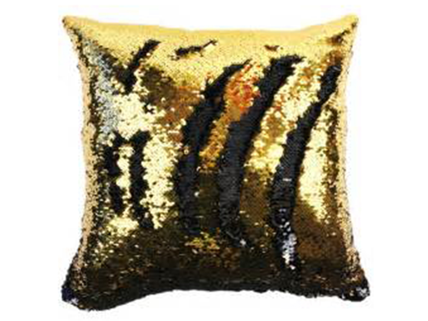 Gold and Black Sequin Mermaid Pillow