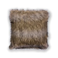 "Exotics Faux Fur 20"" Square Pillow"