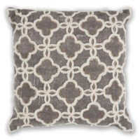 "Grey Arabesque 18""X 18"" Pillow"