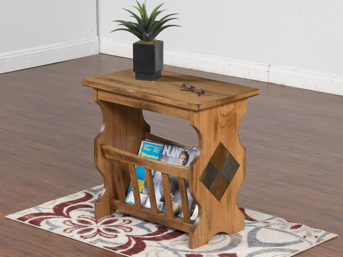 Oak Magazine Table
