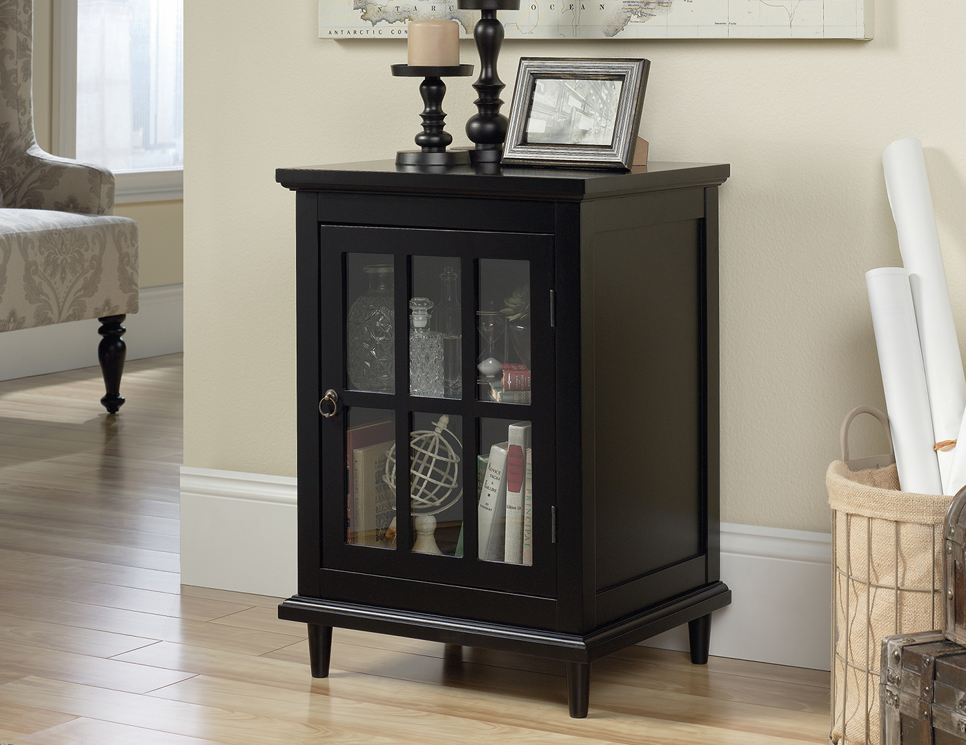 Black Chairside Cabinet