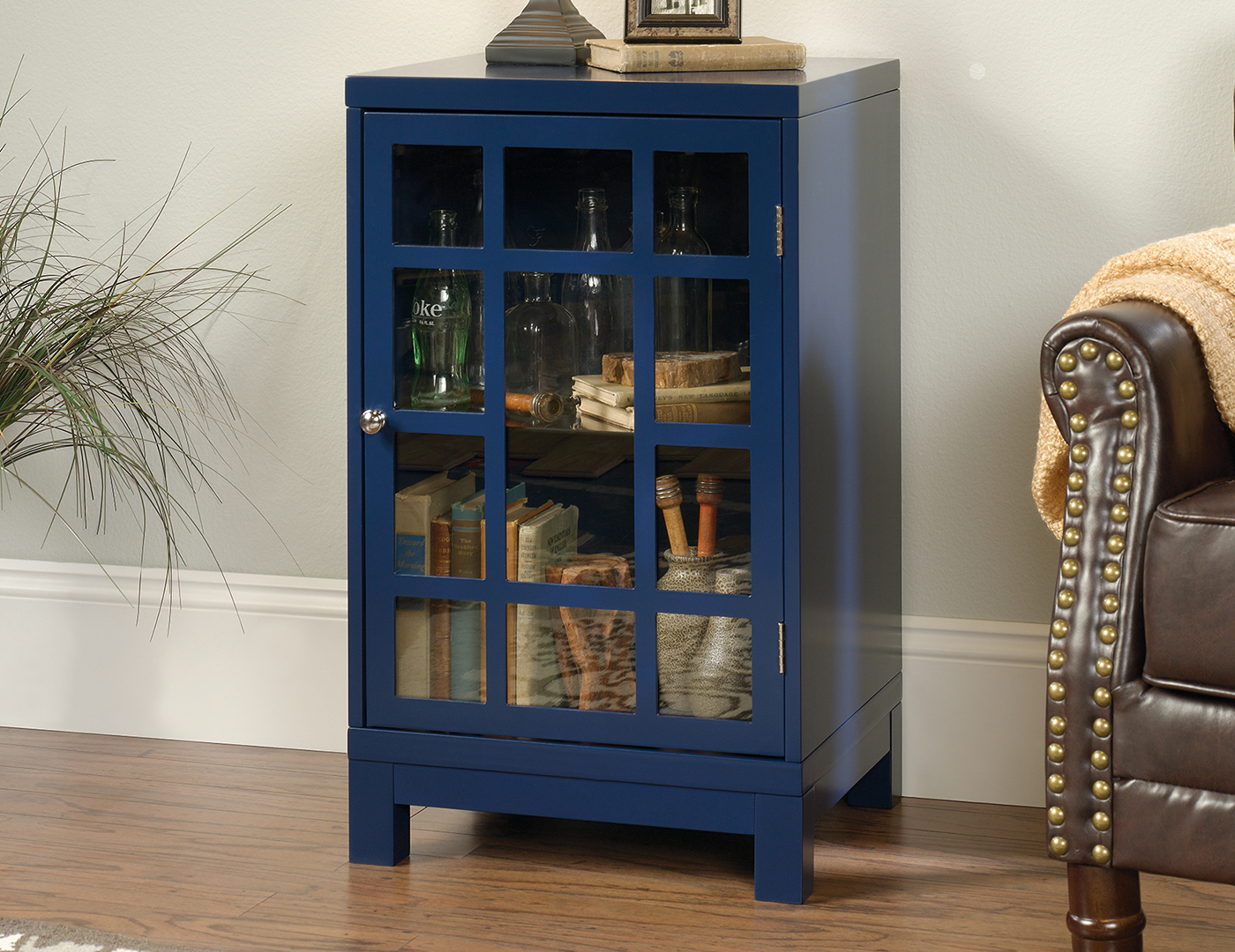 Indigo Blue Chairside Cabinet