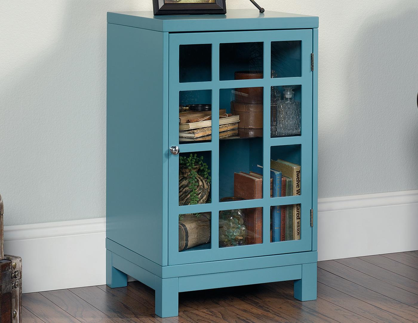 Moody Blue Chairside Cabinet