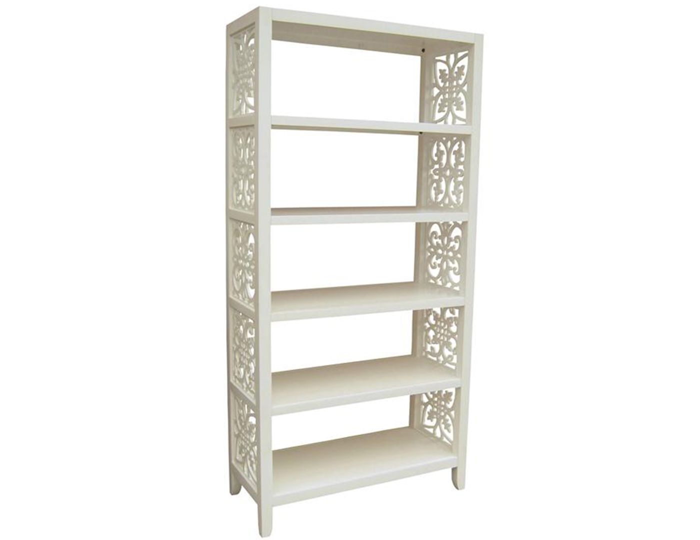White Cut Out Bookcase