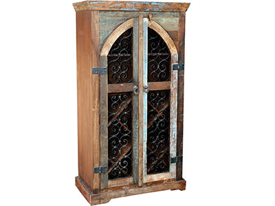 Wine Lovers Collection Railroad Wine Cabinet