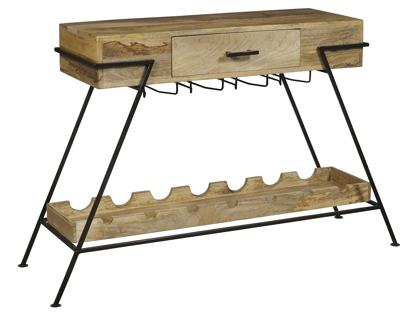 Metal & Wood Wine Console