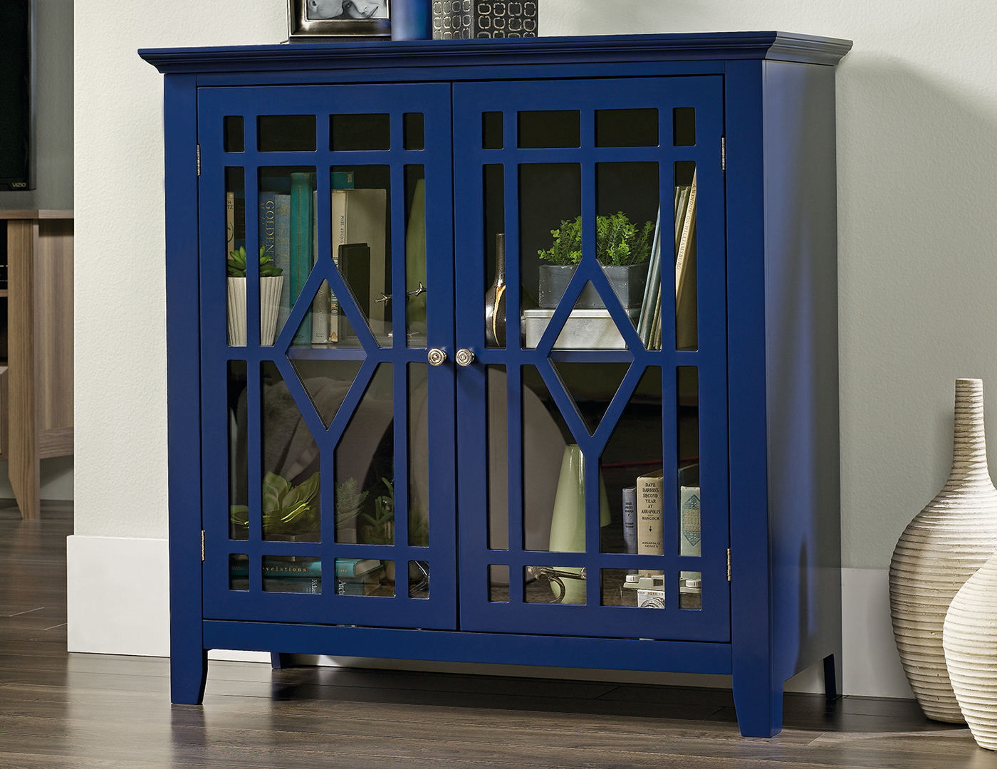 Indigo Blue Display Cabinet