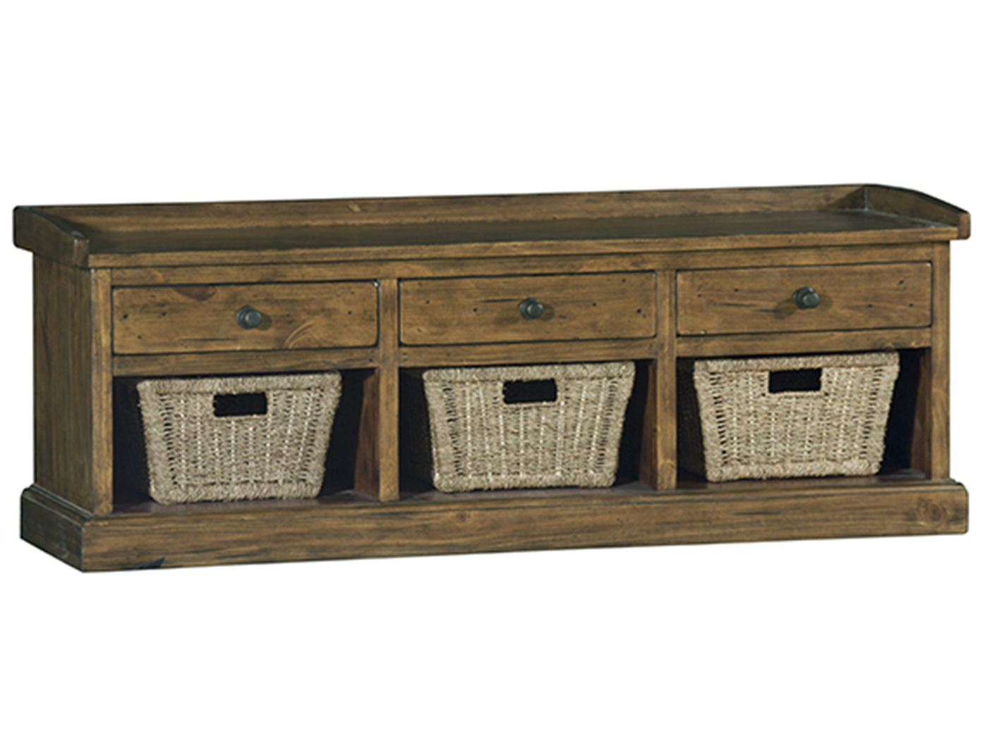 Tuscan Retreat Basket Bench w/3 Drawers