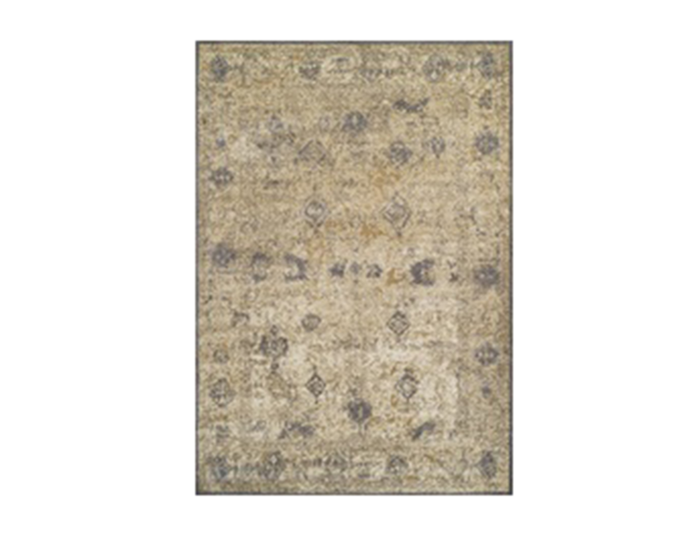 "Antiquity Ivory and Grey Area Rug 5'3""x 7'7"""