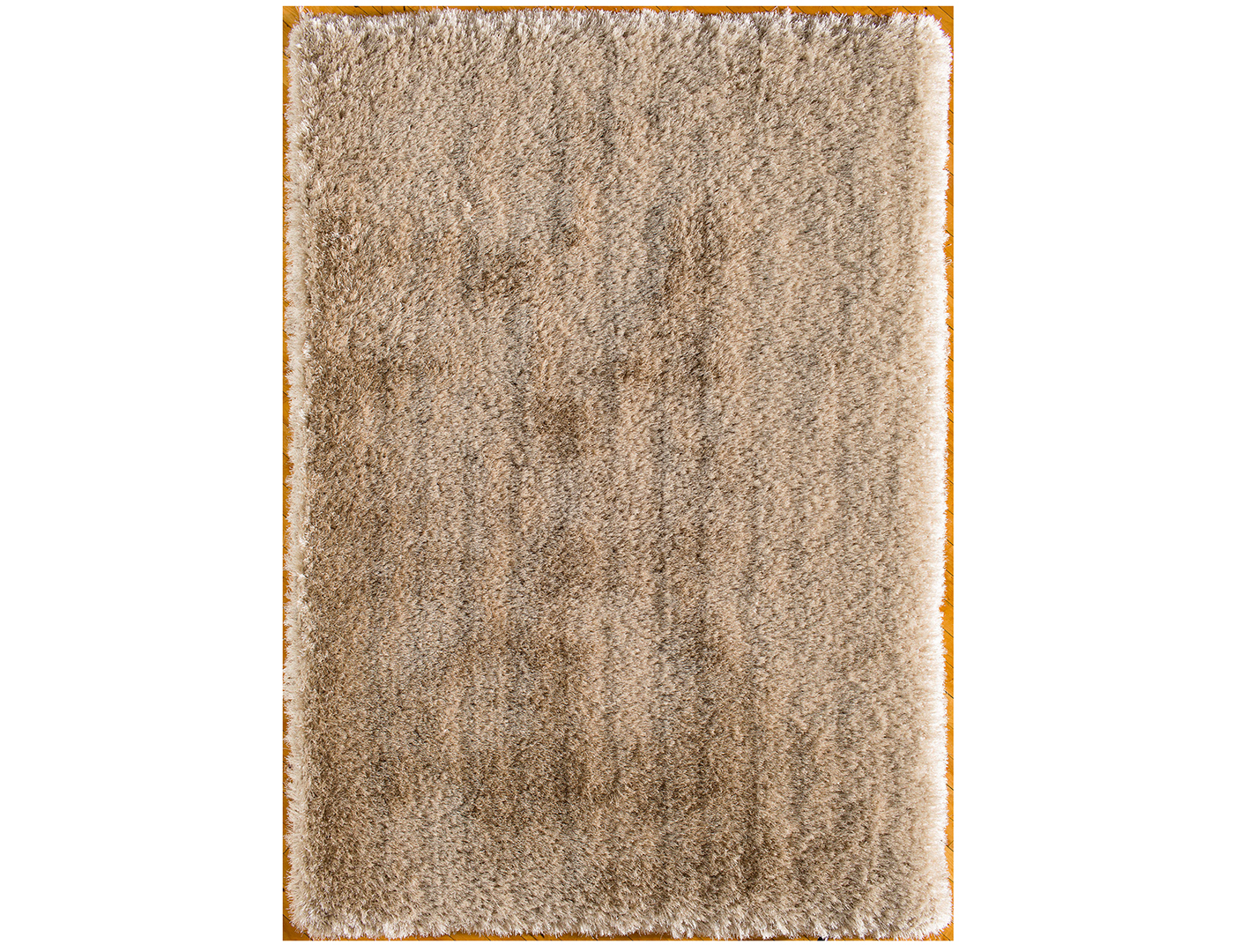 "Gold Ultimate Shag Area Rug 7'6""W x 9'6""L"