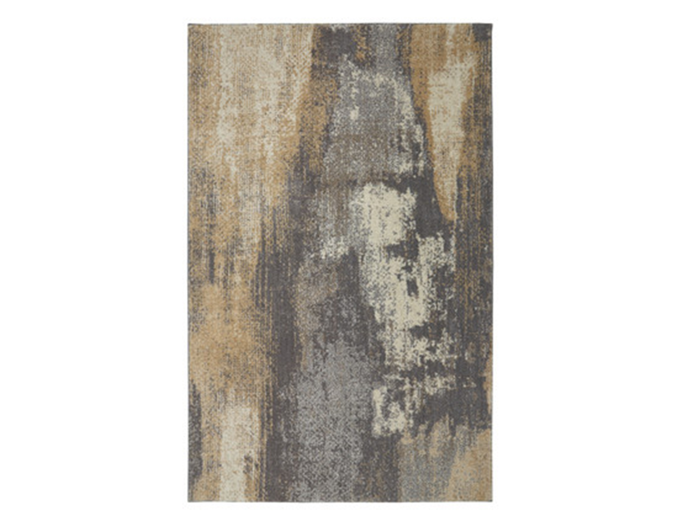 Grey and Tan Abstract Area Rug