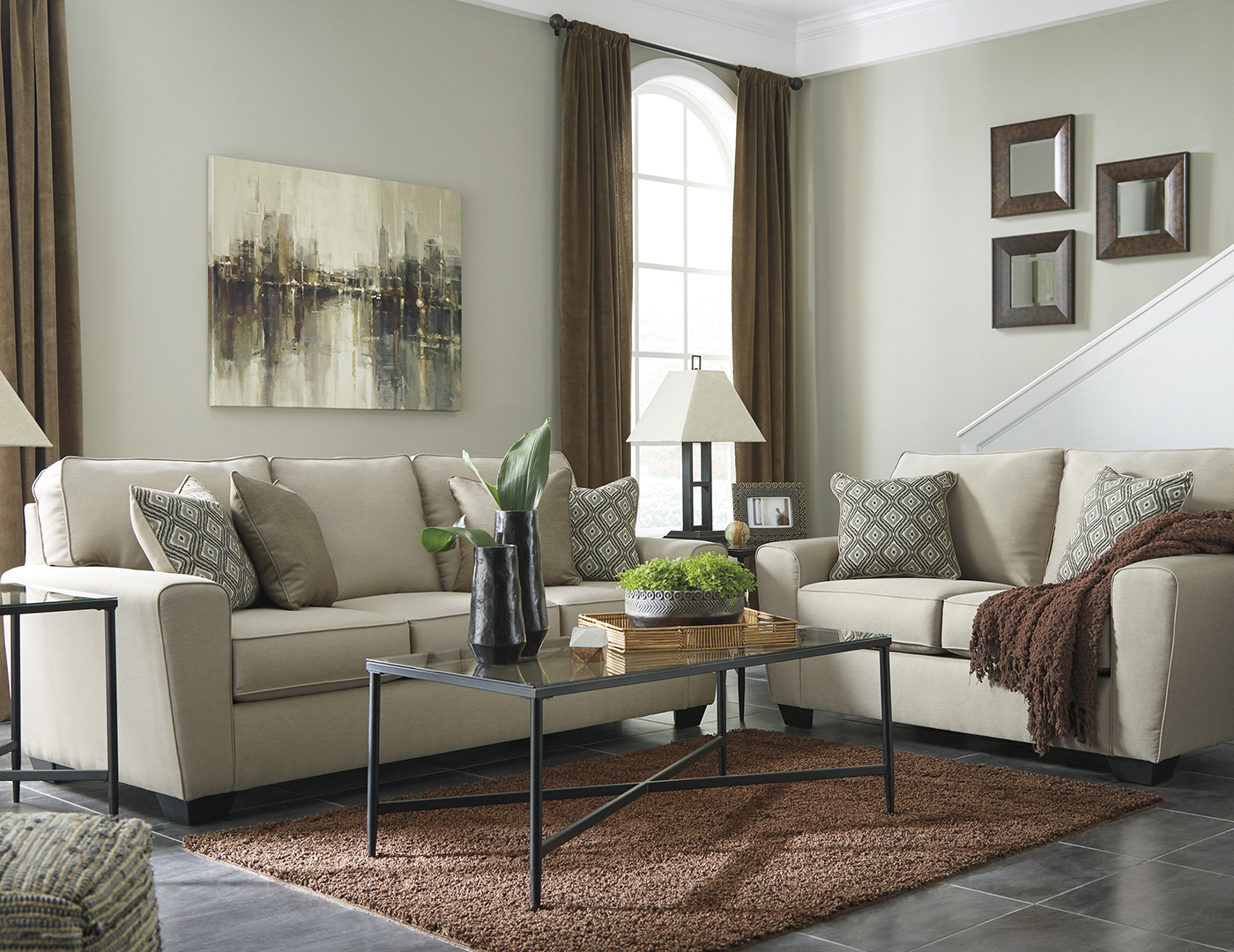 Riley Sofa and Loveseat