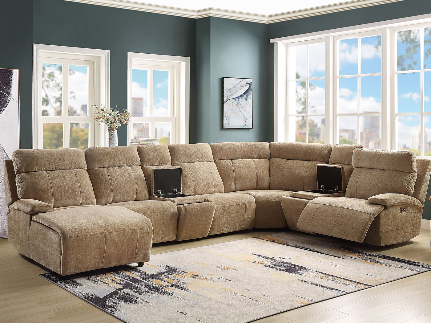 Baron 7-pc. Power Recline Modular