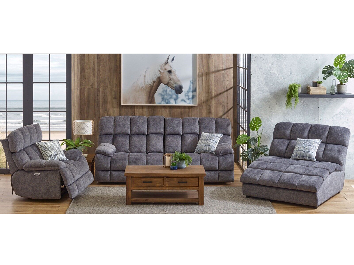Caden Fully Loaded Recline Sofa