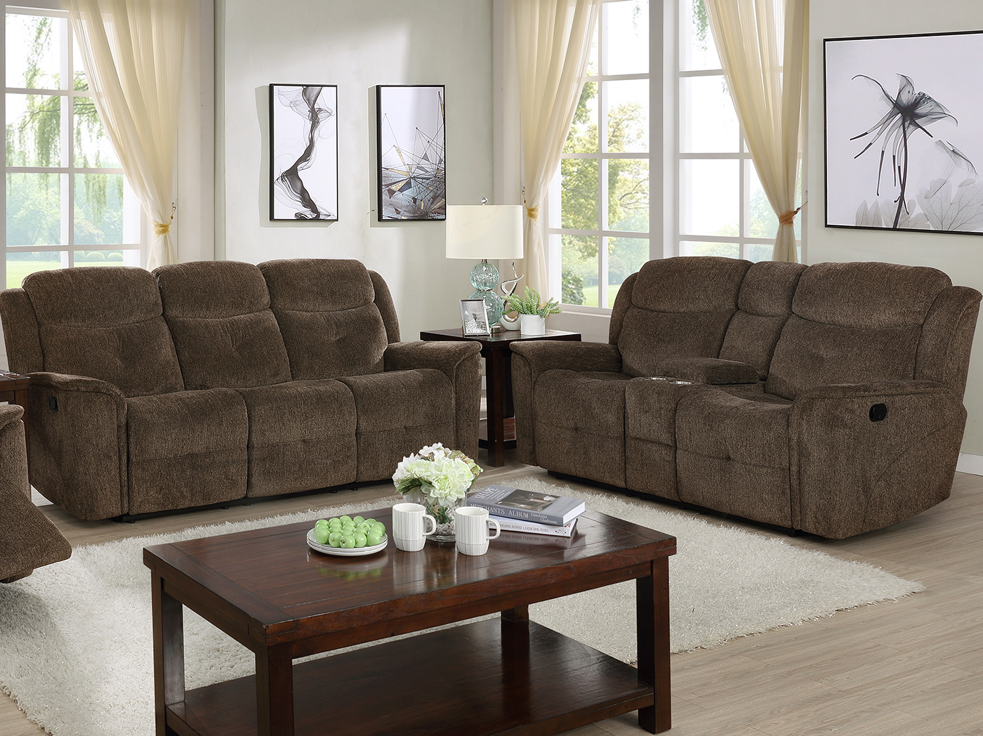 Wyatt Recliner Console Loveseat